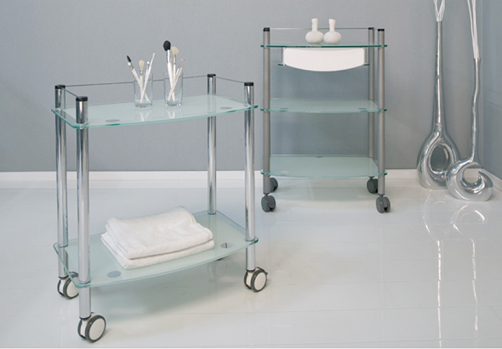 Lamica Glass Trolleys