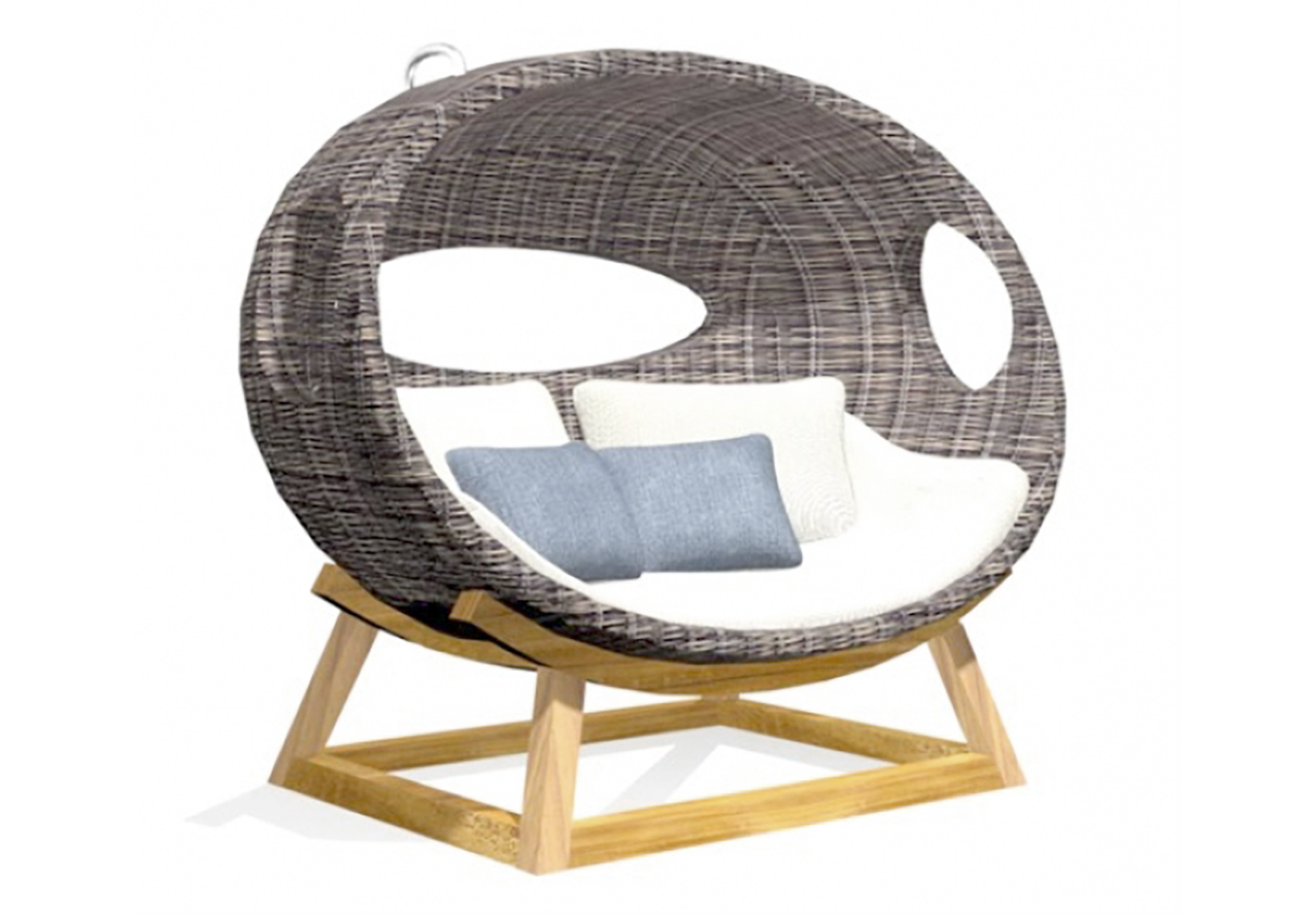 Spavision | Onda Swing Lounge Chair With Stand