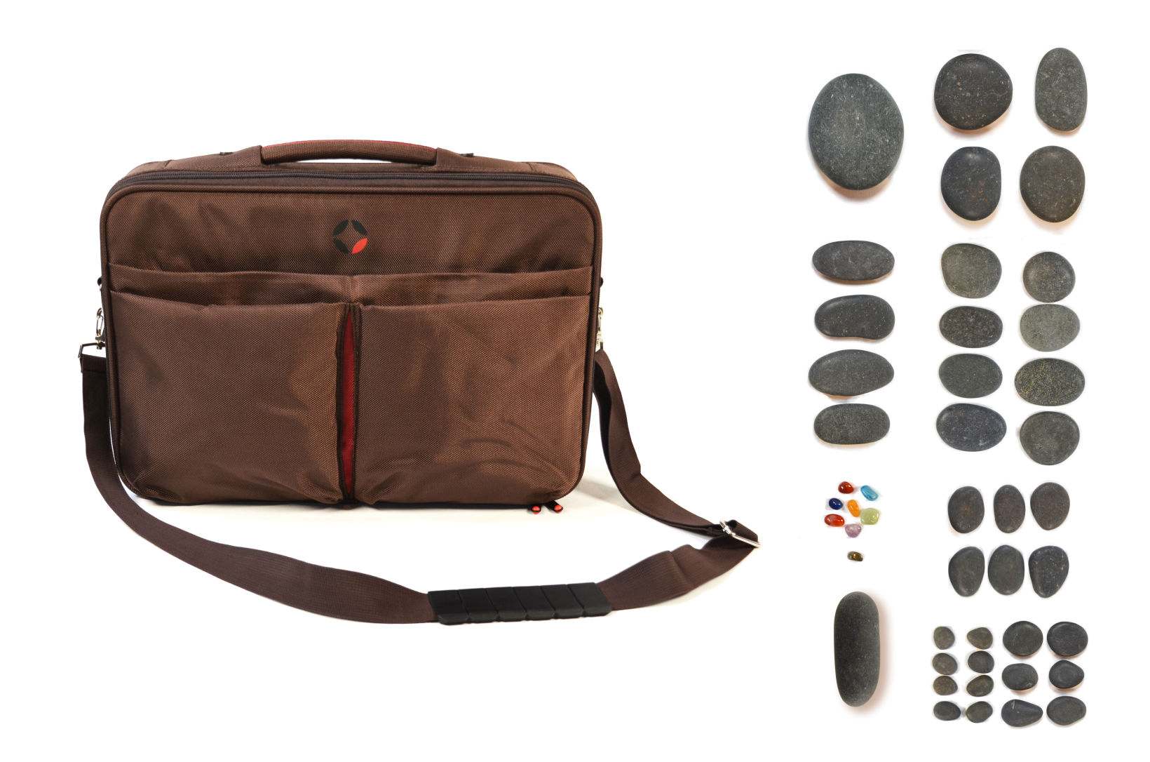 Hot Stone Bag with 43 piece Starter Stone Set