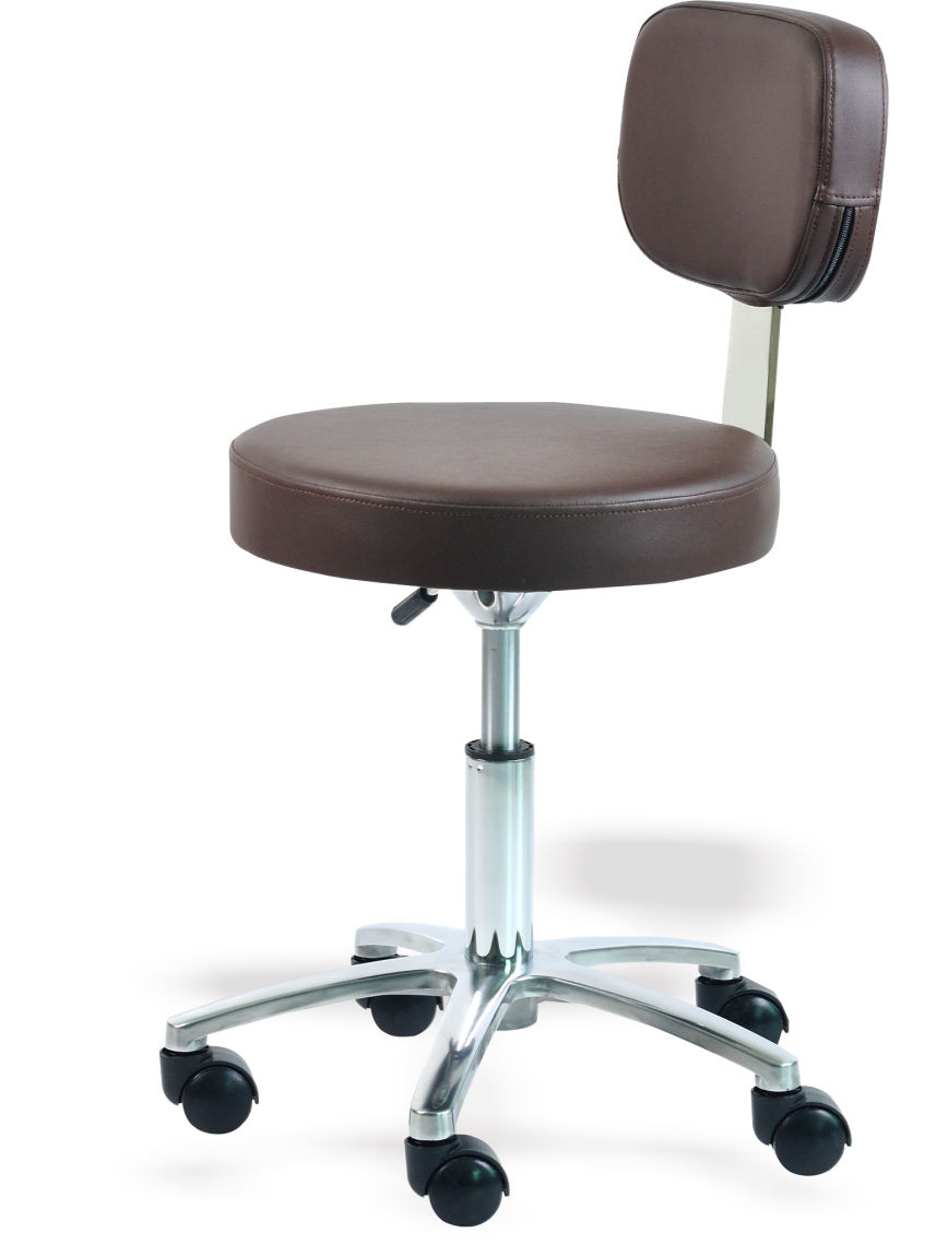 Therapist Stool with Backrest